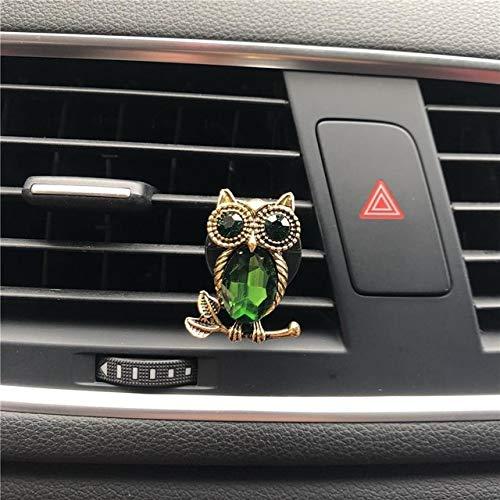 FASHLADY Belle Gufo Metallo modellazione Clip di Profumo Decorazione del condizionatore d'Aria Automobile Carino modellazione Deodorante per Auto Profumo: A