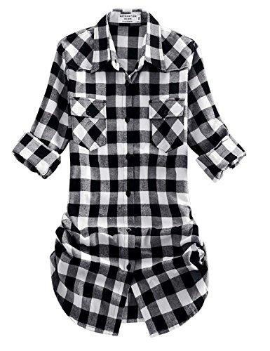 Match Damen Flanell Kariert Shirt #B003(2021 Checks#6,XX-Large(Fit 43''-45''))