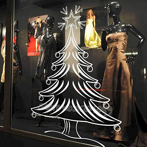 nkfrjz Frohe Weihnachten Baum Wandaufkleber Vinyl Aufkleber Home Nursery Decor Fenster Shop Geschenk Display wasserdichte Hohe Qualität Wandbild 42X48 cm - Rennrad 48cm