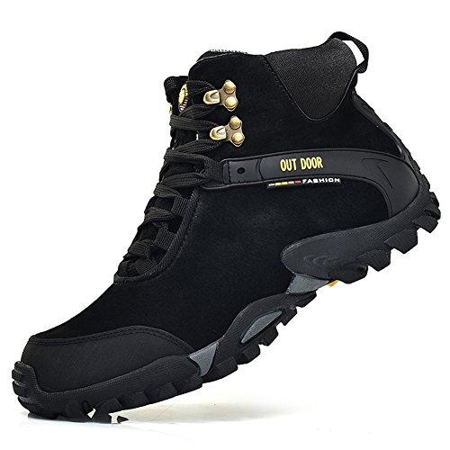 scarpe da trekking scarpe outdoor impermeabile per passeggiate nero/blu40-46 Nero