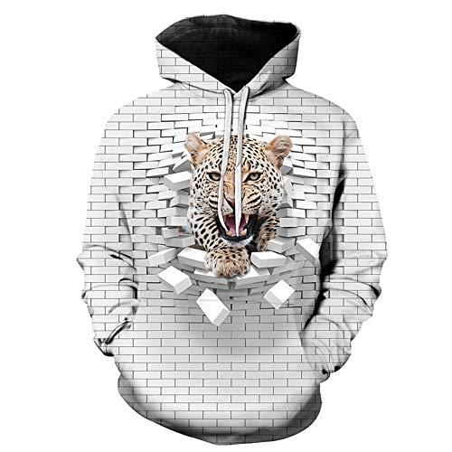 CWWHY Unisex Hoodie Realistische 3D Digital Print Sweatshirt Baseball Jersey Paare Mode Jacke Mit Hut Kapuzen Sweatshirt,03,XXL -