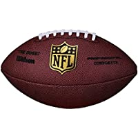 Wilson Football NFL Game Ball The Duke Replica, SC, Senior - Balón de fútbol americano (bola de partido, entrenamiento), color rojo, talla Senior