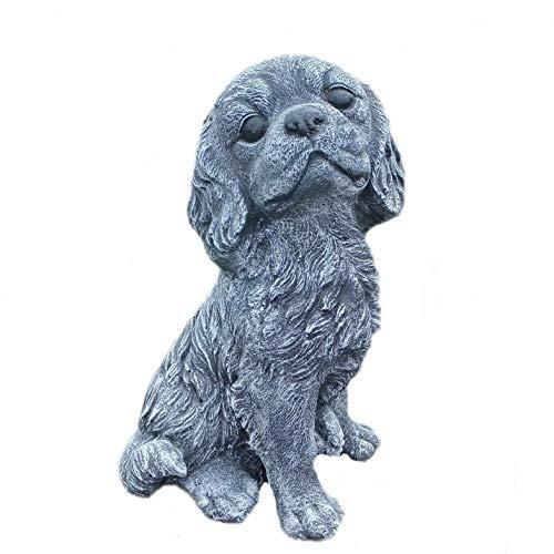 Steinfigur Cavalier King Charles Spaniel Hund frostfester Steinguss