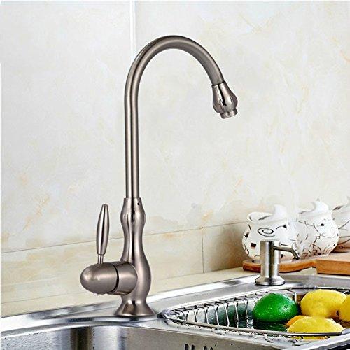 Küchenarmatur Single hole wasserhahn Heiß und kalt tippen sie auf Gebürstet antik küchenarmatur Tippen sie auf-A
