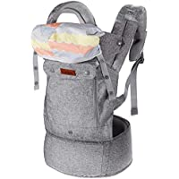 Lictin Baby Carrier Wrap for Newborn – Baby Wrap Carriers Front and Back, Breathable Adjustable Swaddle Wrap Ergonomic Breastfeeding Baby Carrier for Infants up to 33 lbs/15kg, Handsfree(Grey)