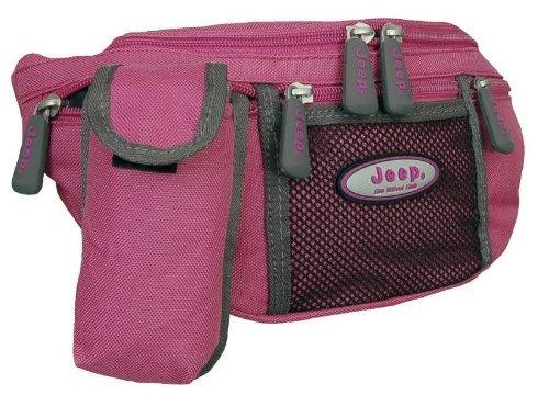 tough-polyester-jeep-womens-waist-bum-bag-fushia-pink