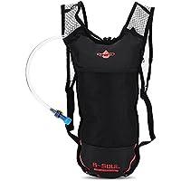 Trinkrucksack mit 2L Trinkblase wasserdicht atmungsaktiv Tasche für Wandern Laufen Klettern Camping Radfahren