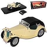 MG Tc Midget 1947 Creme Beige Mit Soft Top 1/18 Yatming Modellauto Modell Auto