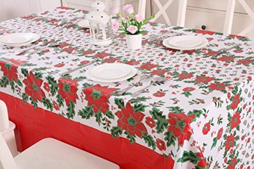 vinylla Navidad Pascua Mistletoe limpiar de PVC y mantel de hule