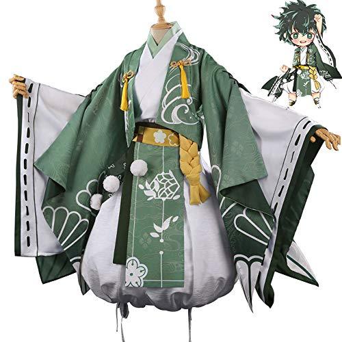 DuHLi My Hero Academia Midoriya Izuku Cosplay Kimono Kleid Uniform Halloween Karneval Maskerade Anime Kleidung,M (Halloween Maskerade Kleider Für)
