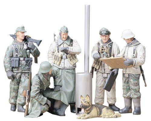 Tamiya 300035212 - set statuette soldati tedeschi della seconda guerra mondiale, scala: 1:35