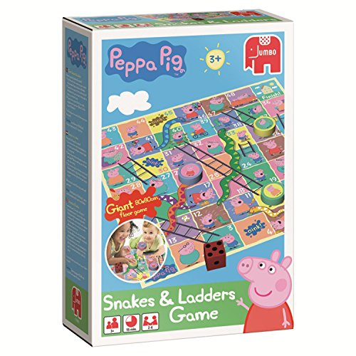 Peppa Pig Snakes and Ladders Bodenspiel (englische Version)