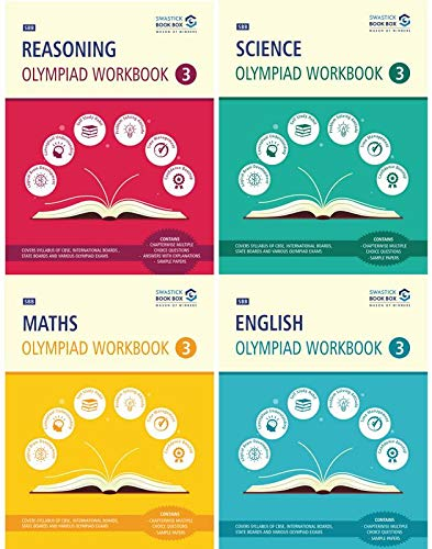 Reasoning, Maths, Science and English Olympiad Workbook Combo - Class 3