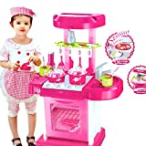 Kitchen Set Kids Luxury Battery Operated Kitchen Super Toy Set, Multi Color