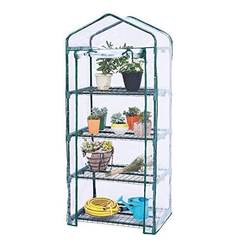 Worth Garden Estantes de 4 niveles Mini Invernadero Cubierta de PVC Cubrir - 69 (L) X49 (W) X156 (H)...