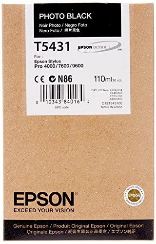 Epson T5431 Cartouche d'encre Photo noir pigmenté C13T543100