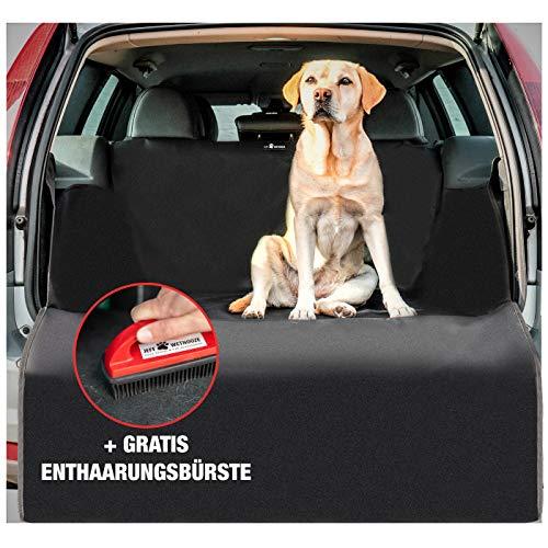 Jeff Wetnooze Universal [2019/20 Version] 2in1 Hundedecke Kofferraum mit Spezialbürste, Auto Kofferraumschutz Hund, wasserdicht mit Ladekantenschutz und Seitenschutz