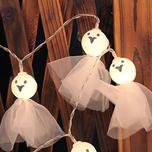 Kostüm Karneval Haunted - LED Leuchten Elf Doll Lichterketten Halloween Haunted House Kürbis für Halloween-Partys, Karneval, Feste Anlässe,Halloween Dekoration Requisiten Geschenke (A)