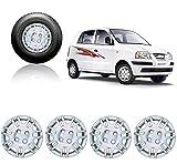 #7: Premium Quality Car Full Caps Silver 13inches Wheel Cover For - Hyundai Santro Xing