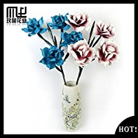 MQZM-Fiori artificiali Hotel home desktop bottiglia decorazione