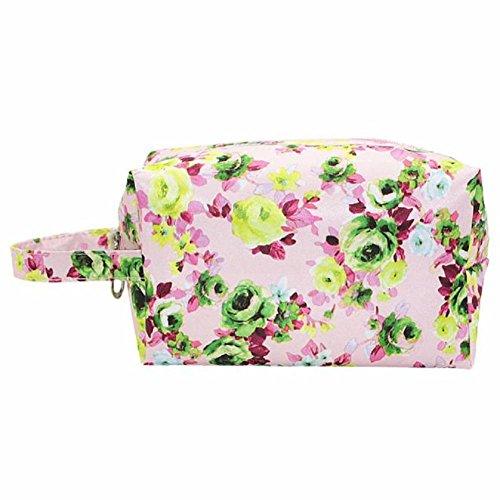 Sac à main, FEITONG Femmes Mode étanche Nylon Cosmetic Bag Printing pivoine Rose