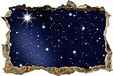 wandmotiv24 3D-Wandsticker Sternenhimmel Aufkleber Mauerdurchbruch M0019 Design 01 - extra groß