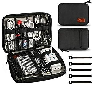 viajes: Jamber universal bolsa de viaje cable organizador electrónica accesorios bolsa d...