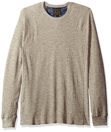 Lucky Brand herren Strong Boy Thermal Crew Shirt  Oberteil  -  beige -  (Thermal Shirt Baumwolle-crew)