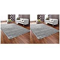 Abaseen Large Small Carpet Silver Grey Rug Floor Size Extra New Mat Big Huge Thick Soft Shaggy Modern Rugs (Silver, 160x230cm)