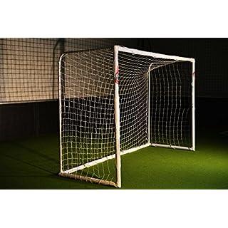 POWERSHOT Fußballtor Stadion 3 x 2m - 100% WETTERFES - uPVC mit Klicksystem und Zubehör - Perfektes Fußballtor für Garten (Tor)