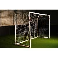 """Fußballtor """"STADION"""" 3 x 2m von POWERSHOT® aus wetterfestem uPVC mit Klicksystem und Zubehör - Perfektes Fußballtor für Garten"""