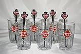 Havana Club Gläser Set – 6x Gläser geeicht 2/4cl + 6x Stirrer