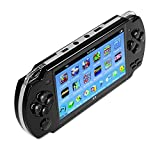 Qumox Handheld Retro Game Console,Leezo 1PC Rechargeable 4.3inch 8GB Video Game Console Free 100 Games MP4 MP5 Players With Dual Joystick Camera Classic Portable Retro Game Player - Black