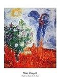 1art1 38628 Marc Chagall - Couple Au Dessus De St. Paul Poster Kunstdruck 50 x 40 cm