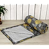 "Trance Home Linen Cotton Single Dohar 58"" x 90"" (Grey Yellow Abstract)"