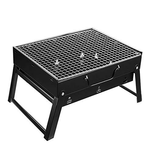 Einweg-arbeitsplatte (YANDN Zusammenklappbarer Kleiner, schwarzer Stahlpaket-Kohleofen mit gegrilltem Clip-Gewürzglas Einweg-Handschuhgrill für Familien-Campinggrill)