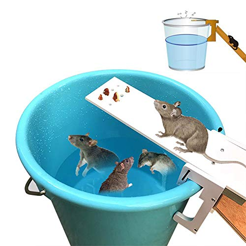 FOONEE Humane Mouse Trap, Walk The Plank Mouse Trap Restablecimiento Automático Balancín Rata Jaula Cubos Vivos Ratones Y Otras Plagas Y Roedores,No Se Requiere Taladrar