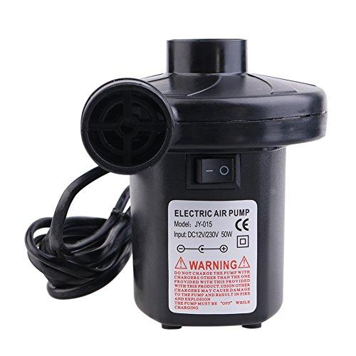 Dada tragbar DC elektrische Luftpumpe, Volumenpumpe/Deflator Elektrische Pumpen mit 3Düsen für Air Bett luftobjekte–Air Matratze Raft Bett Boot Pool Spielzeug - 5