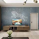 3D Vliesstoff Wallpaper Nordic Geometrische Linie Muster Wohnzimmer Hintergrund Wand Leo Nahtlose Tapete Wandbild Kreative Sofa Schlafzimmer Tapete, 200 Cm * 140 Cm