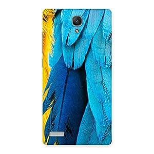 Impressive Blue Feathur Back Case Cover for Redmi Note Prime