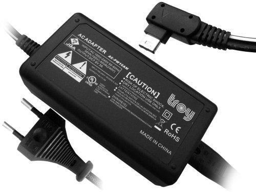 Troy Kamera Netzteil ersetzt für AC PW10AM Sony Alpha SLT A57 SLT A58 SLT A65 SLT A77 SLT A99 NEX Serie NEX VG10 NEX-FS700EK