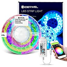 GIDERWEL Home Smart DreamColor LED Strip Lights Kit with WiFi LED Controller Work with Alexa,Google Assistant for APP and Voice Controlled RGB Addressable WS2811 Strip Lights Music Sync
