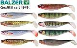 Balzer Shirasu Photo Print Shad 3D - Gummifisch zum Spinnfischen auf Hechte & Zander, Gummiköder, Softbait, Hechtköder, Gummishad