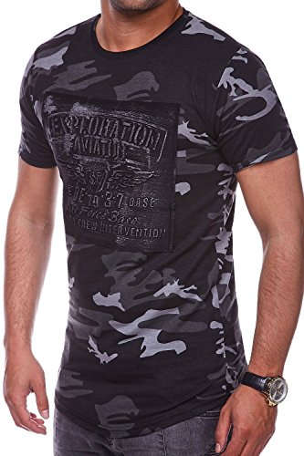 MT Styles Oversize T-Shirt FORCE Camouflage RS-9366 Schwarz