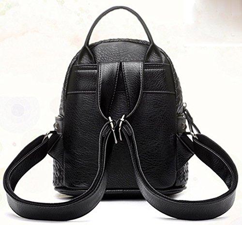 2d45c71385ef9 ... Keshi Pu neuer Stil Schulrucksäcke Rucksack Damen Mädchen Vintage  Schule Rucksäcke mit Moderner Streifen ...