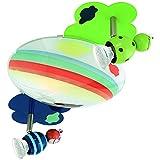 Eglo–Lámpara de techo y pared taya1DL/3, níquel mate/multicolor 93141S