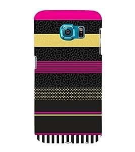 Fashion Art Lines Vision 3D Hard Polycarbonate Designer Back Case Cover for Samsung Galaxy S6 Edge :: Samsung Galaxy Edge G925