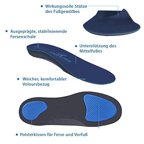 FootActive COMFORT - Original Marken Einlegesohlen - Herrlicher Laufkomfort für Füße, Beine und Rücken, speziell bei Fersensporn (39 - 41 S)