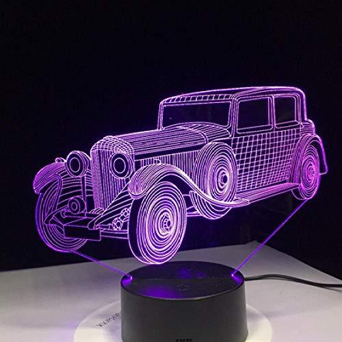 s Auto Form Kreative LED Nachtlampe Kinderzimmer Nachttischlampe Souvenir Geschenk für Papa Opa Wohnkultur ()