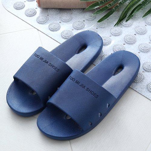 DogHaccd pantofole,Estate Home gli uomini e le donne le stanze da bagno sono ideali per le coppie anti-slittamento fondo morbido cool ciabatte di plastica interna spessa per uso domestico Blu scuro1